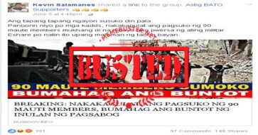 Busted: 90 Maute members surrendered? Fake news alert!