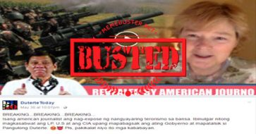 Busted: American journo claims LP connived with US, CIA to terrorize Marawi City? Misleading headline!