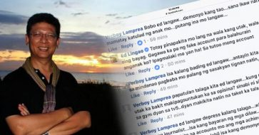 After roasting Erwin Tulfo over a fake meme, Ed Lingao receives vicious comments about his child