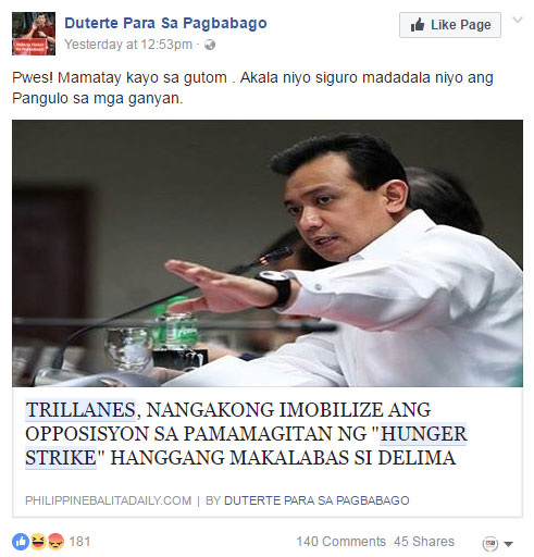 Trillanes vowed to mobilize opposition