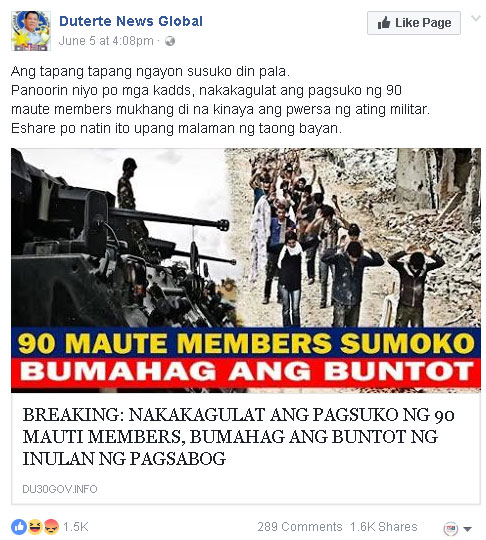 90 Maute members surrendered