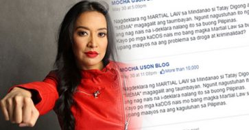 Busted: Netizen slams Uson for asking DDS if they also want nationwide Martial Law to stop drugs, criminality