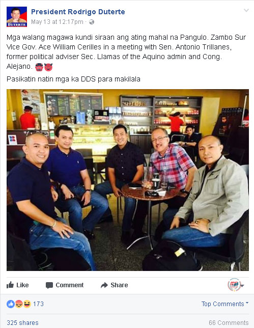 Justice Secretary Vitaliano Aguirre II Fake photo
