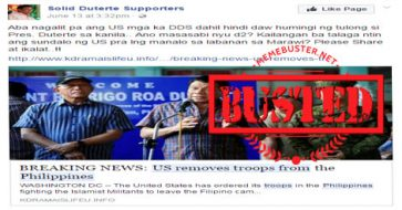 Busted: US removed troops from PH? It's fake news!