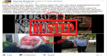 Busted: FB page wishes hostaged Catholic priest 'mapugutan ka sana ng ulo' after wrongly assuming he staged anti-Duterte rally