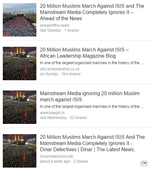 20 million Muslims marched vs. ISIS