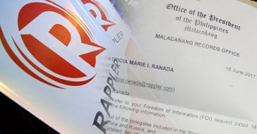 Rappler shows doc of denied FOI request for China, Russia trips contradicting Abella's claim