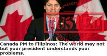 Busted: Trudeau said 'The world may not but your president understands your problems'? This came from a fake news site