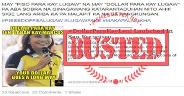 Busted: #DollarParaKayLeni launched in San Francisco? It's a satirical piece!