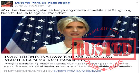 Busted: George W. Bush said he knows Duterte personally and that he never gives up? It's fake news