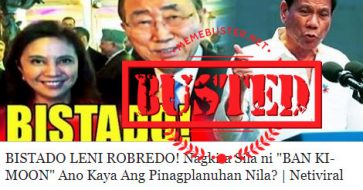Busted: Robredo met with Ban Ki Moon to oust Duterte? OVP denied ouster talk, both leaders just took a selfie