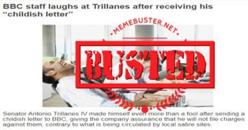Busted: BBC staff laughed at Trillanes' 'childish letter'? Fake news alert!