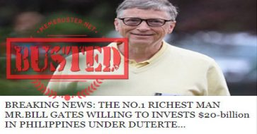 Busted: Netizens warn PH gov't about accepting Bill Gates' 'donations' due to fake news he's distributing toxic vaccines