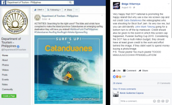 DOT slammed for posting surfing photo without giving proper credit to videographer