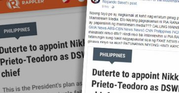 Uson urges media to call out Rappler, Ranada for spreading 'fake news;' Rappler apologizes for 'mistakenly publishing' story's draft