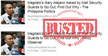 Busted: Rep. Gary Alejano asked by mall security guard to go out? It's fake news!
