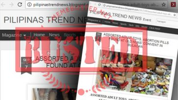 Busted: Adult toys, pills found at nuns' convent in Bulacan? Fake news alert!