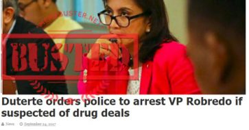 Busted: Duterte orders cops to arrest Robredo if suspected of drug deals? Story came from fake Al Jazeera site