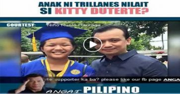 Duterte supporter claims Trillanes' daughter bashed Kitty Duterte's looks, but how true is this?