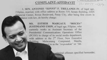 Trillanes files libel, other charges against Uson