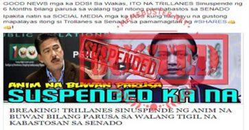 Busted: Trillanes suspended for 6 months after Senate clash with Gordon? It's a misleading headline!