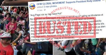 Busted: FB page used 2014, 2015 photos to show stranded VisMin passengers recruited for Sept 21 rally