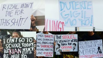 Read how millennials conveyed their messages to Duterte admin using Sept 21 rally placards