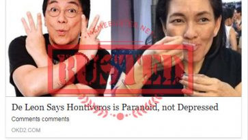 Busted: Joey de Leon said Hontiveros is paranoid, not depressed? Fake news alert!
