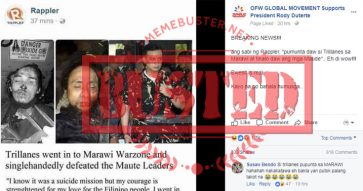 Rappler denies publishing story on Trillanes visiting Marawi, defeating Maute; slams 'very poorly' fabricated screenshot