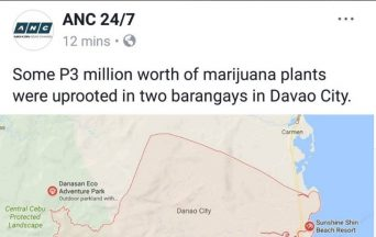 Netizens spot ABS-CBN's mistake in naming Davao City instead of Danao City in marijuana news