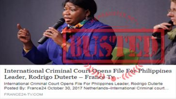 Busted: ICC prosecutor said they are going to put Duterte on trial in January? It's fake news!