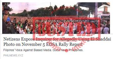 Busted: Was Inquirer photo of 'Start the Healing' rally really that of El Shaddai rally? No, it wasn't!