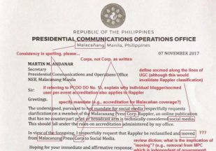 UP journalism professor edits Uson's PCOO letter about 'reclassifying' Rappler as social media