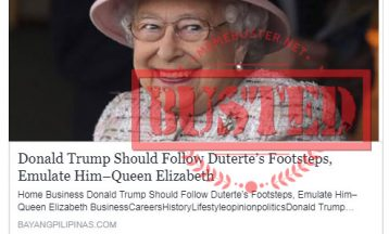 Busted: Did Queen Elizabeth say Trump should follow Duterte's footsteps, emulate him? It's fake news!
