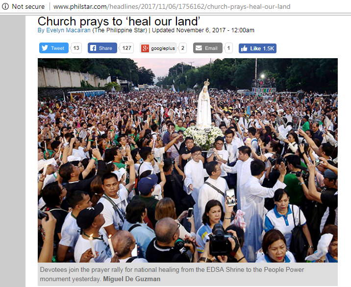 Inquirer El Shaddai rally