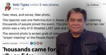 Busted: Columnist Tiglao accused Inquirer of using fake photo, got confronted, deleted his post, but refused to publicly apologize