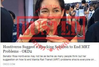 Busted:  Did Hontiveros say MRT should stock up on diesel, gasoline to solve its problems? No, she didn't!