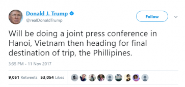 After misspelled ASEAN posters, Trump also spelled Philippines wrong in tweet