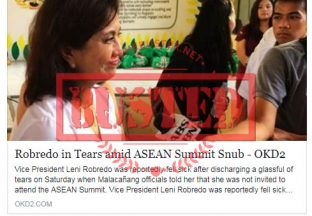 Busted: Robredo in tears after ASEAN Summit snub? It's not true at all!
