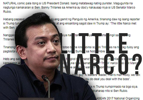 Trump called Trillanes little narco