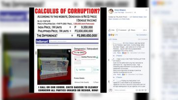 Busted: Dengvaxia sold in India for only 9 pesos? But dengue vaccine is not yet sold in India!