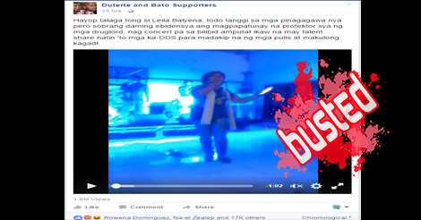 """A video clip of Senator Leila de Lima singing """"Careless Whisper"""" has been circulating online, with some Facebook pages alleging it as a concert at the New Bilibid Prison."""
